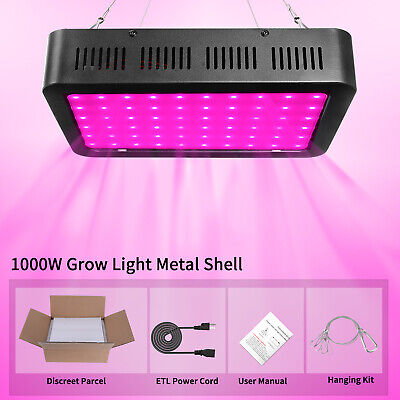 1000W LED Grow Light Growing Lamp Full Spectrum for Indoor Plant Hydroponic