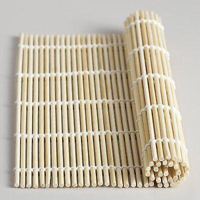 Bamboo Roll Sushi (Bamboo Sushi Roller Mat California Roll 9.5 inch Square)