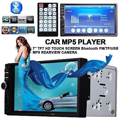 7'' HD Bluetooth Car Stereo Radio In-Dash Touchscreen DIN FM MP5 MP3 Player SD