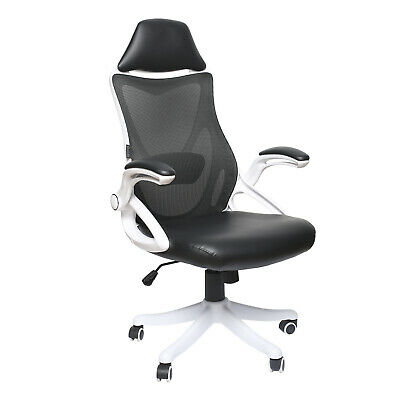 Ergonomic Office Chair Computer Desk Adjustable High Back Seat Armrest Mesh Pu