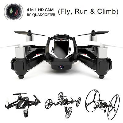 UDI U841-1 2.4Ghz RC Quadcopter Drone Car 4In1 Fly Run&Climb with 2MP HD Camera