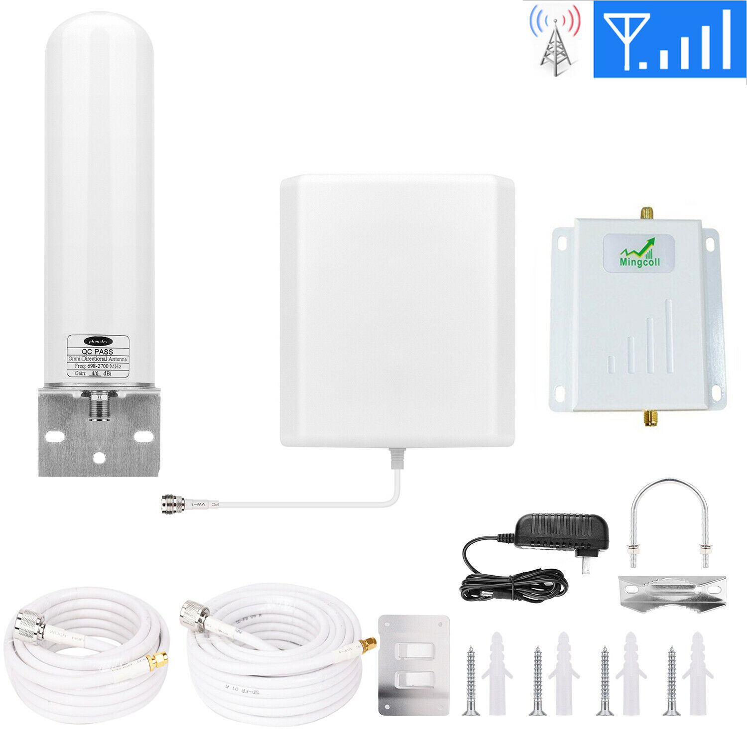 AT&T Cricket Signal Booster 4G LTE T-Mobile Cell Phone Signa