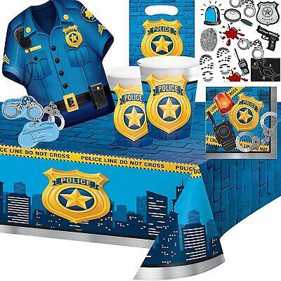 EN * Alles zum Kindergeburtstag - American Police Party Set (Party Polizei)
