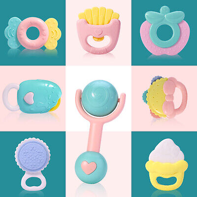 8pcs Baby Rattles and Teethers,Newborn Babies, Boys, Girls,Infant Chewing Toys