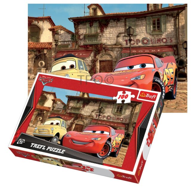 Trefl 100 Piece Kids Boys Disney Pixar Cars Best Pals McQueen Jigsaw Puzzle NEW