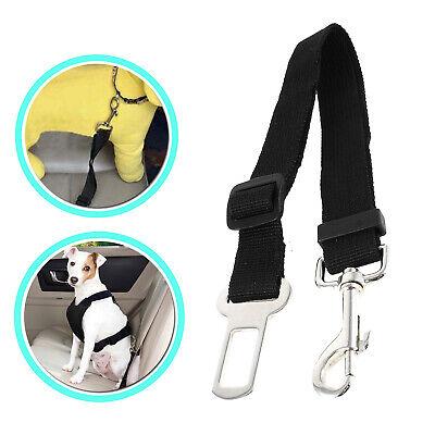 PAMIYO Cintur/ón de Seguridad para Perros 2 Unidades Arneses de Seguridad para Perros Cintur/ón Ajustable de Nylon para Trasportar Mascotas de Viajes Cintur/ón de Perros de Asiento de Coche Negro