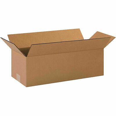 20 X 8 X 6 Long Cardboard Corrugated Boxes 65 Lbs Capacity 200ect-32 Lot