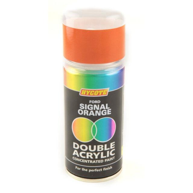 Hycote Ford Signal Orange 150ml Double Acrylic Spray Paint Aerosol - XDFD528