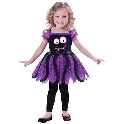 Girls Cutie Spider Costume Tutu Child Purple Halloween Fancy Dress Outfit Kids ()