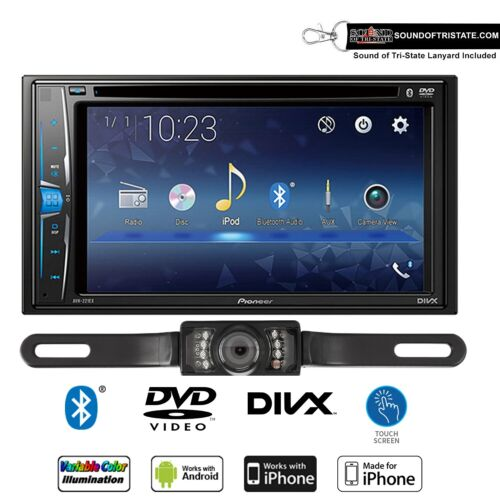 Pioneer AVH-221EX Multimedia DVD-Receiver with License Plate