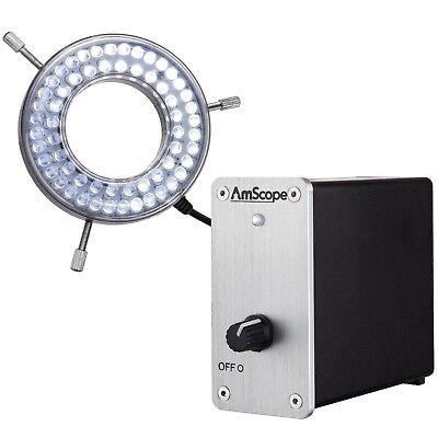 Amscope Led-80mv 80-led Heavy-duty Microscope Ring Light