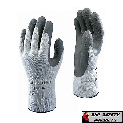 SHOWA ATLAS 451 THERMA FIT INSULATED WINTER WORK GLOVES, RUBBER COATING 1 DOZEN