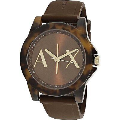 Armani Exchange Women's AX4341 Brown Silicone Quartz Fashion Watch