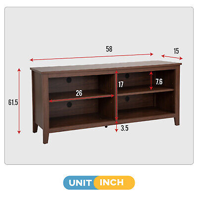 TV Stand for 65 inch TV up to Flat Screen Wood TV Console Media Table Furniture