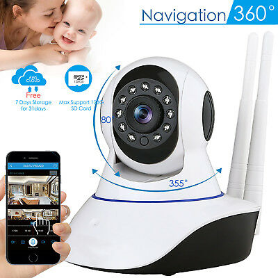 1080P Wireless Wifi Pet Baby Monitor Panoramic Night Vision Cloud IP CCTV Camera