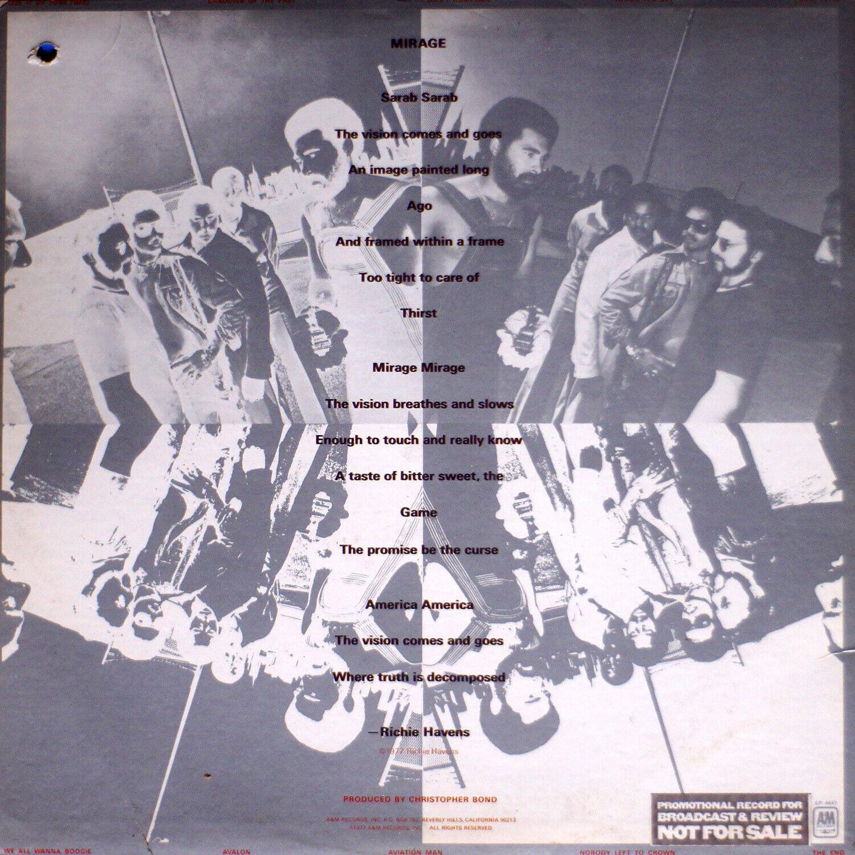 Richie Havens - Mirage NM/VG 0804 LP Vinyl PROMO - $12.00