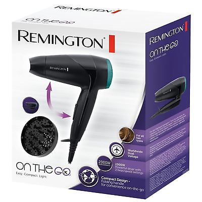 Remington 2000W Compact Travel Hair Dryer with Diffuser   Folding Handle -  D1500 3c7f538abc1