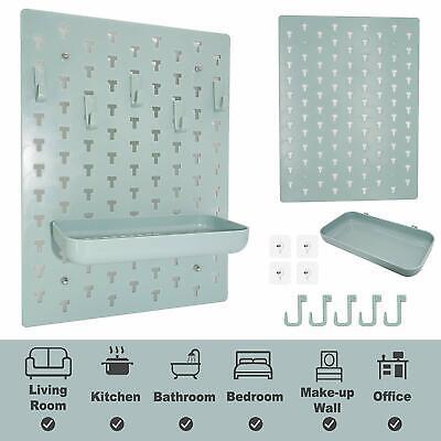 Decorative DIY Pegboard Kit, EZ Mount Wall Shelf for Living Room/Bathroom/Kitche Storage Unit Pegboard
