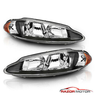 For 1998-2004 Dodge Intrepid ES/SE/SXT Factory Style Black Headlights Pair