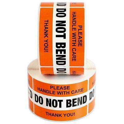 Do Not Bend Label Stickers 2 X 3 1000 Labels 2 Rolls X 500 Waterproof Orange