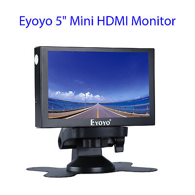 EYOYO 5 FARBE VIDEO HDMI VGA BNC AUTO REARVIEW MONITOR 800 X 480 METALLGEH USE