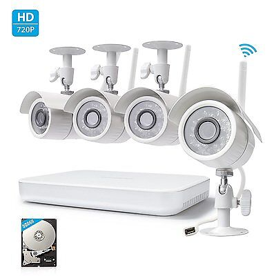 Zmodo 1080P 8CH NVR 1.0 MP HD Outdoor Wireless Home Security Camera System 500GB