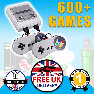 Retro Games Console Mini SNES Style Nintendo: 620 Built-In Games Mario 2 Player