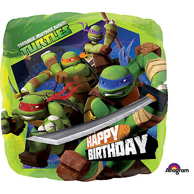 2 Teenage Mutant Ninja Turtles 17'' Round Helium Birthday Party Balloon Two Pack