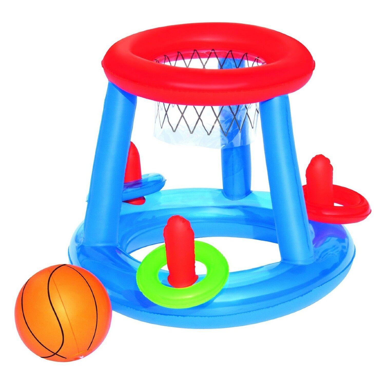 BESTWAY 52190 aufblasbares schwimmendes Pool Wurfspiel Basketball Korb 60cm