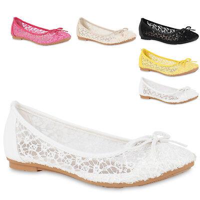 Feminine Flats Damen Ballerinas Spitze Pailletten Flats Feminine Slipper 816771 Trendy 33490a