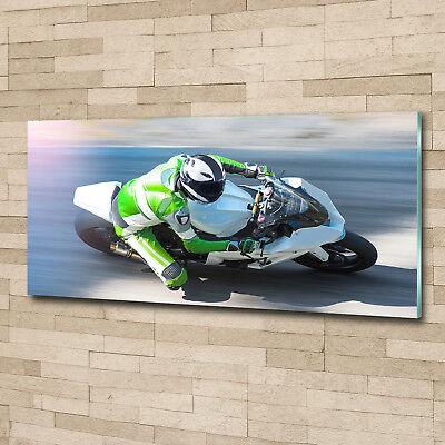 Glas-Bild Wandbilder Druck auf Glas 125x50 Deko Sport Motorradrennen