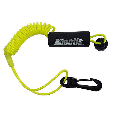 - Atlantis Floating Safety Lanyard Ignition Cap Key Stop Switch Yellow Fit Sea-Doo