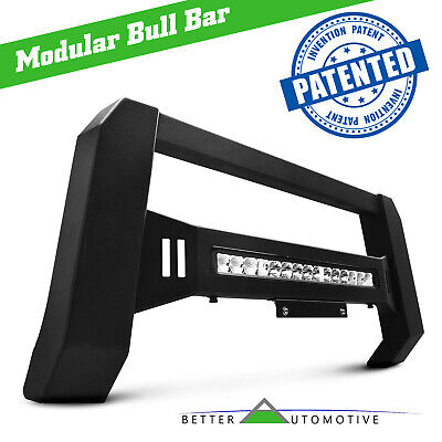 LED LIGHT MODULAR BULL BAR FOR 07-18 CHEVY SILVERADO/GMC SIERRA 1500 BRUSH GUARD ()