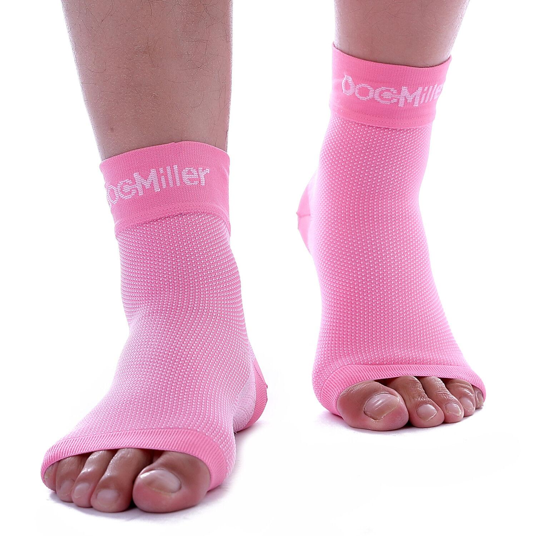 a5cf8d2a0d Details about Doc Miller Plantar Fasciitis Arch Support Compression Ankle  Brace Sock PINK