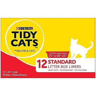 """Purina Tidy Cats 12-Standard Litter Box Liners  22"""" x 30"""" / 1.2 mil"""