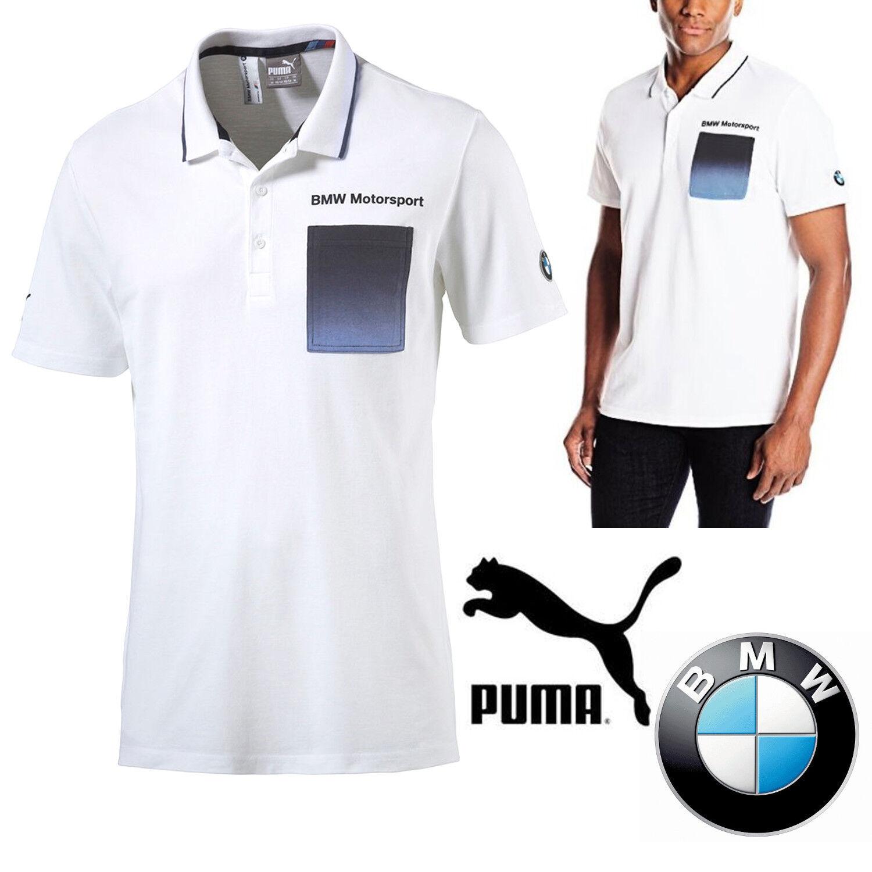 Details about PUMA BMW Motorsport Mens Polo Shirt White F1 M Series Car  T-Shirt Tops
