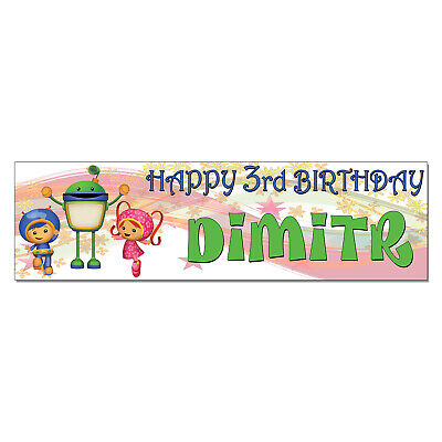 Personalized & Custom Printed Team Umizoomi Birthday Party Banner Poster Decor (Team Umizoomi Party Decorations)