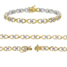 Buy and sell Sterling Silver Champagne Diamond Infinity Bracelet (0.50 CT) near me