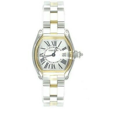 Cartier Women's W62026Y4 Roadster Stainless Steel and 18K Gold Watch