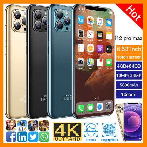"Android Phone - i12 Pro max 7.2"" Face ID Fingerprint Smartphone Android10 3+32GB 5600mah AU"