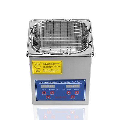 2l Stainless Steel Ultrasonic Cleaner Large Timer Cleaning Bracket 110v
