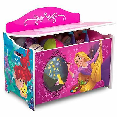 New Delta Children Deluxe Toy Box - Disney Princess Fast Delivery Kids Princess Toy Box