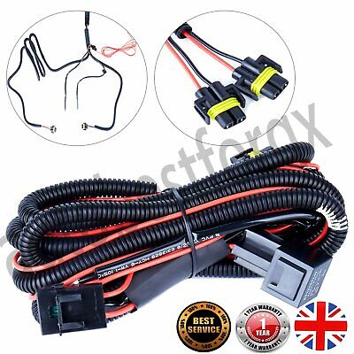 Wiring Loom HARNESS KIT Front Fog Lights Lamps Universal Fit For T5 Caddy UK