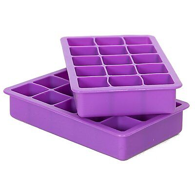 Elbee Coolest 15-Cube Silicone Ice Tray - 2-Piece Mold Set - Make 30 Cubes!