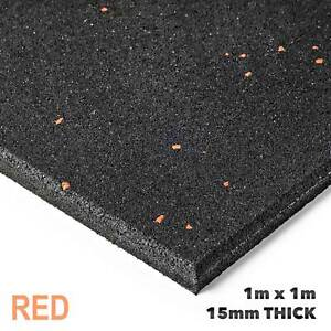 New Commercial Gym Flooring x 20 Red Fleck Package