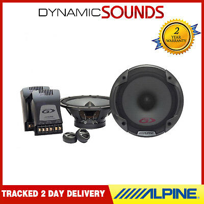 "Alpine SPG-17CS 17cm 6.5"" Component 2-Way Component Car Speakers Kit 280W"