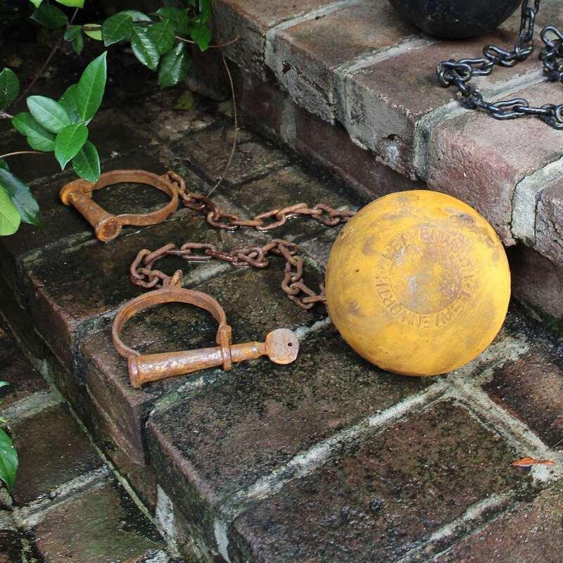 Leavenworth Ball and Chain Kansas Prison Wedding Historic Antique Replica