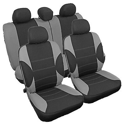 Protective Car Seat Covers Protectors Set Grey Black Suitable For Ford