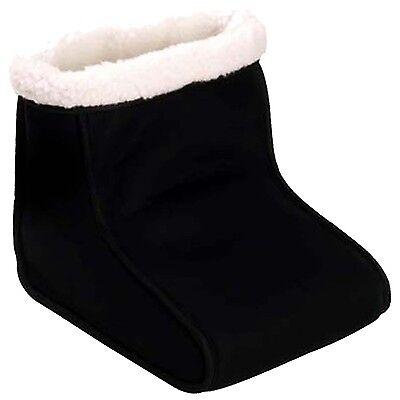Electric Heated Foot Relaxer Massager Warmer Black Comfort Feet Fleece Suede