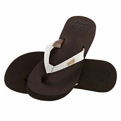 Reef Star Cushion Womens Footwear Sandals - Brown White All Sizes